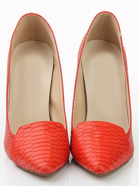 Leder Fish-scale pattern Pointed Toe High Heels